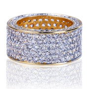 18K GOLD, DIAMOND 360 RING.