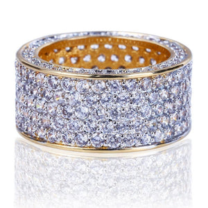 18K GOLD, DIAMOND 360 RING