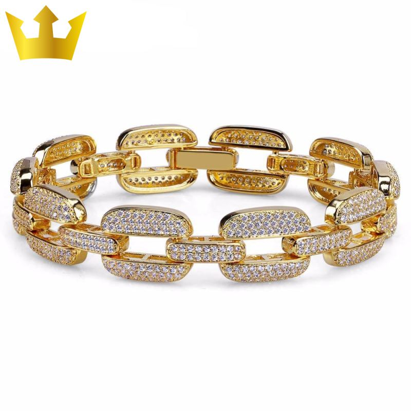 15mm, 24K GOLD MAJESTIC LINK. - MAJESTICVUE