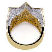 18K GOLD, STAR RING.