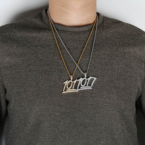 Gold & Silver 1017 Iced Out Letters Pendant - MajesticVUE