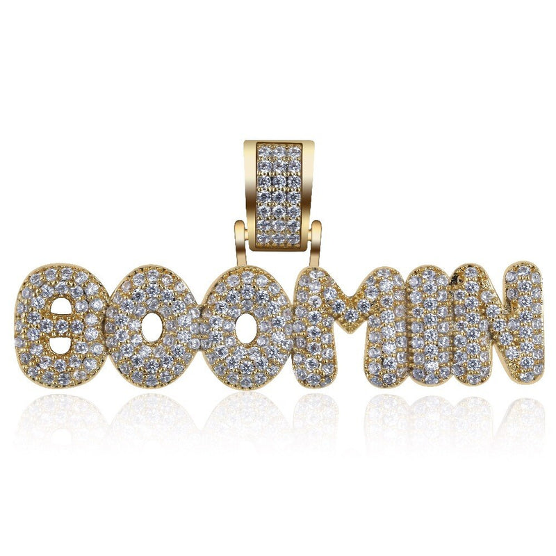 Iced Out BOOMIN Letter Personalized Necklaces