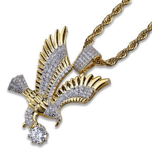 Hip Hop  Iced Out Micro Paved CZ Eagle Pendant