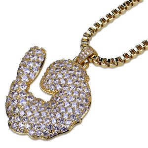 Hip Hop Iced Out Full Zircon Shrimp Tail Pendant