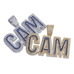Gold & Silver Bubble Letters CAM Necklace & Pendant - MajesticVUE
