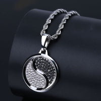 Rock Iced Out Tai Chi Pendant