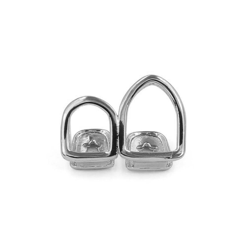 Hollow Open Face Double Tooth Grillz - MajesticVUE