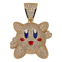 Iced Out 3D Kirby Pendant