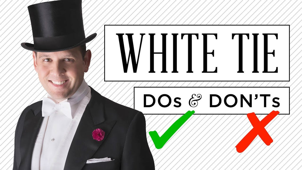What does black or white tie mean