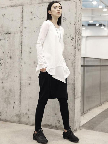 Vintage Irregular White Shirt