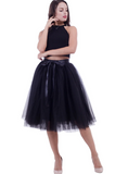 FASHION TULLE SKIRT PLEATED TUTU SKIRTS WOMENS