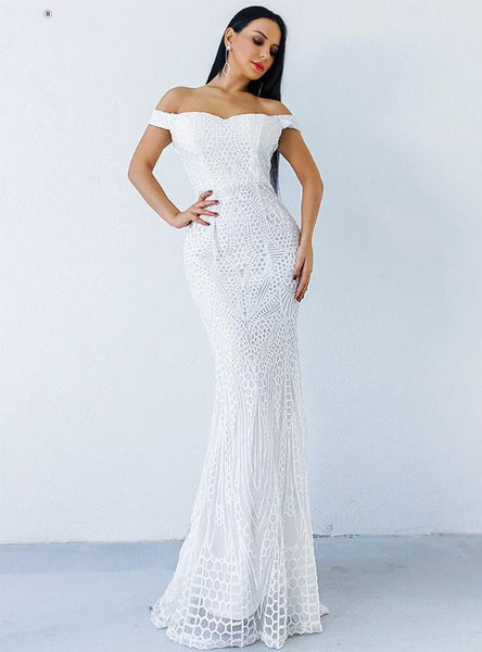 SEXY SEQUINS MOP PARTY EVENING DRESS FISHTAIL DRESS