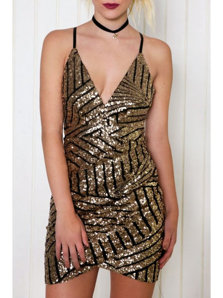 Chic Sequins Cami Bodycon Dress