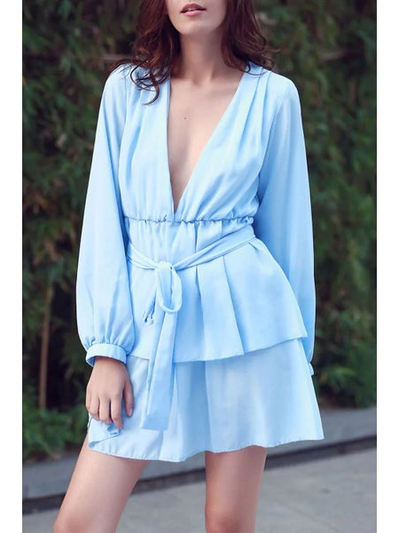 Cute Ashton Plunging Ruffle Dress
