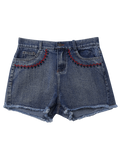 Fashion Embroidered Cutoffs Denim Shorts