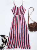 Gorgeous Chiffon Striped Midi Sundress