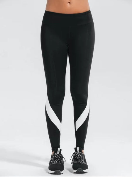 Trendy Stretchy Color Block Active Yoga Pants