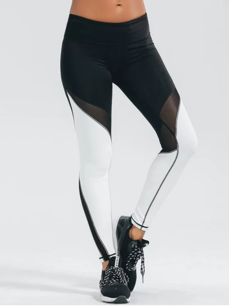 Cute Active Color Block Stretchy Leggings