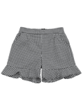 Trendy Ruffle Hem Checked Pocket Shorts