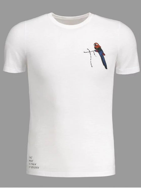 Trendy Crewneck Bird Patched Tee