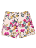 Trendy Side Zipper High Waisted Floral Shorts