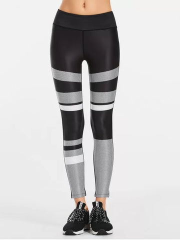 Fun Color Block Patterned Yoga Leggings