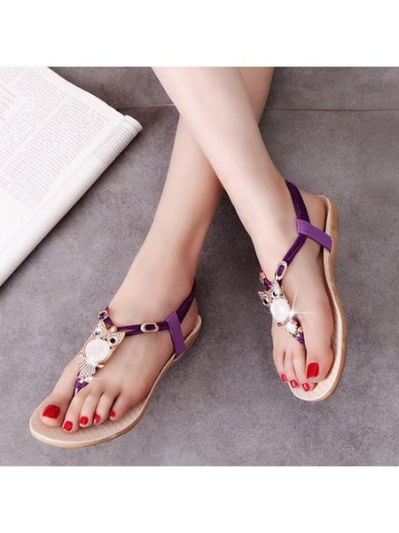 Fashion Elastic Band Faux Leather Sandals