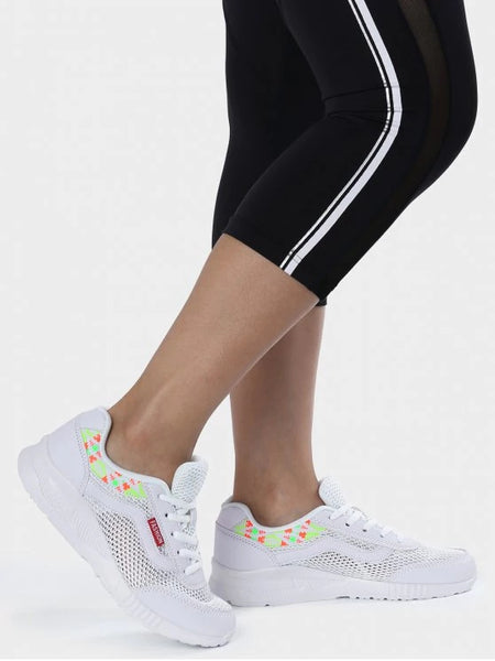 Trendy Breathable Geometric Pattern Mesh Athletic Shoes