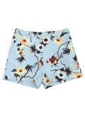 Fashion High Waisted Floral Shorts with Buttons