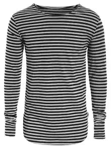 Fashion Striped Long Sleeve Mens Jersey Top