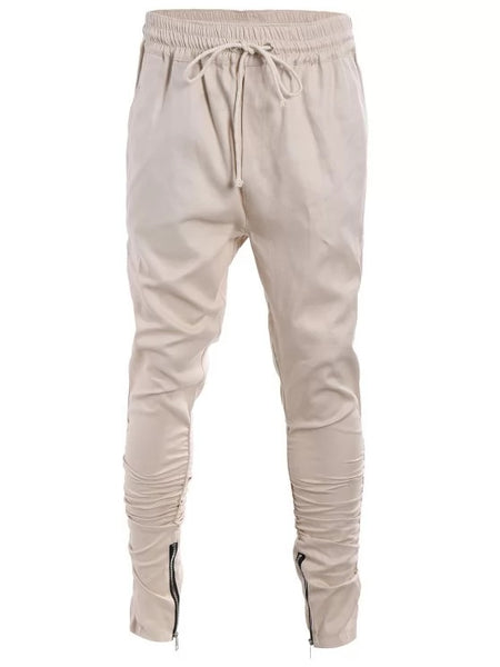 Stunning Slim Fit Drawstring Mens Twill Pants