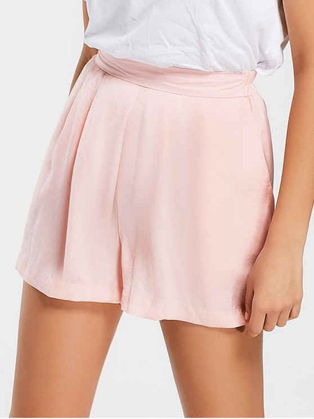 Fashion Cozy High Waisted Wide Legged Shorts