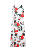 Trendy Backless High Slit Floral Maxi Slip Dress