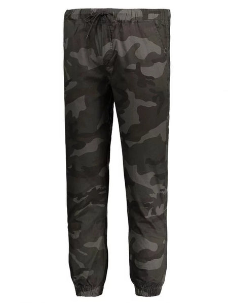 Trendy Drawstring Camo Jogger Pants