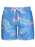 Flamingo Print Swim Trunks