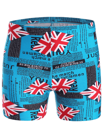 Trendy Graphic Swim Trunks