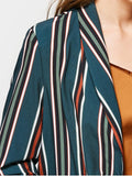 Gorgeous Buttoned Flap Pockets Stripes Blazer