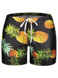 Fashion Pocket Pineapple Print Swim TrunksV