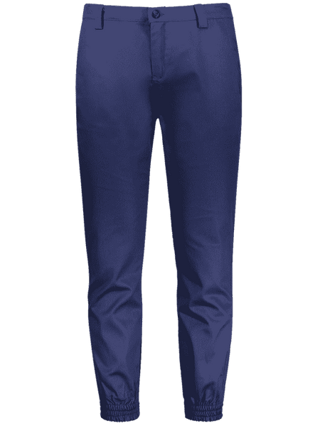 Cheap Zipper Fly Patched Jogger Pants