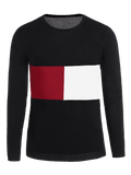 Trendy Mens Patchwork Sweater