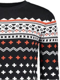 Trendy Crew Neck Mens Jacquard Sweater