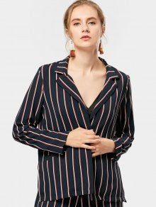Trendy Open Front Striped Blazer