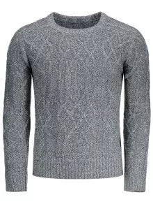 Trendy Textured Heathered Sweater