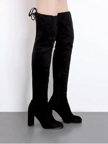 Unique High Heel Drawstring Over The Knee Boots