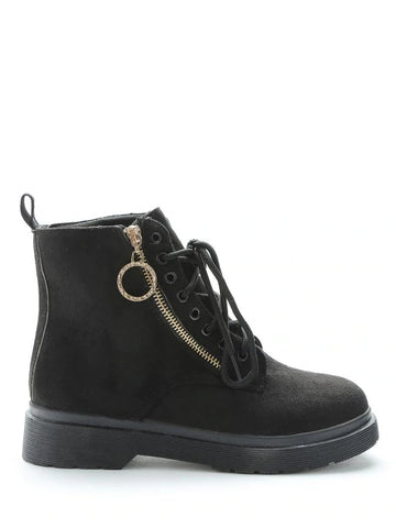 Unique Retro Lace Up Suede Short Boots
