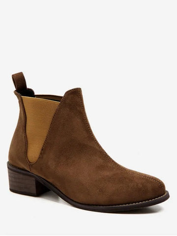 Chic Low Heel Short Chelsea Boots