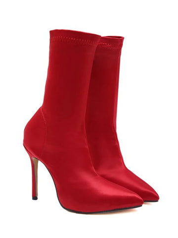 Sexy Pointed Toe High Heel Sock Boots