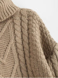 Loose Chunky Knit Turtleneck Sweater