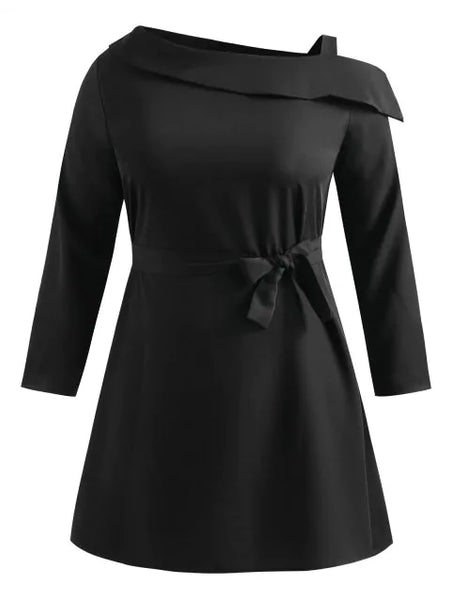 Glamorous Plus Size Cut Out Belted Dress