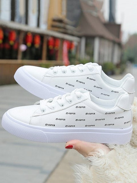 Charming Printed Lace-up Sport Shoes